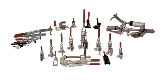 Array of Toggle Clamps